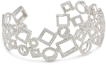 Cuff bracelets 7.00 Ct Diamond Solid Gold Natural Certified
